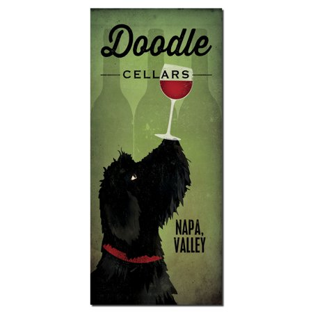Adorable Doodle Wine Cellars Napa Valley Print by Ryan Fowler; One 8x18in Paper Poster Print