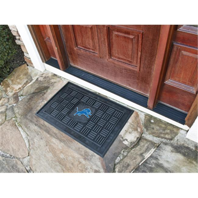 NFL - 19 in. x30 in.  - Detroit Lions Medallion Door Mat