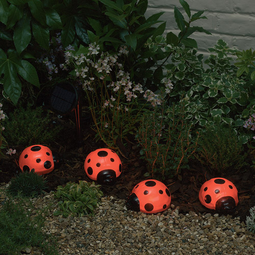 Solar Ladybugs - 4-Piece Set