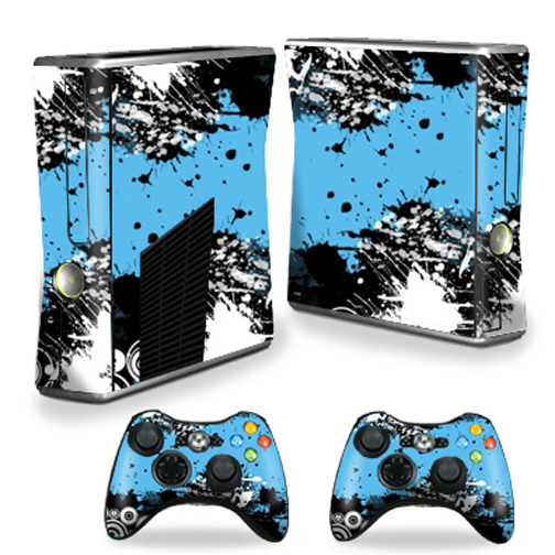 MightySkins Skin For X-Box 360 Xbox 360 S console - Abstract Black | Protective, Durable, and Unique Vinyl Decal wrap cover | Easy To Apply, Remove, and Change Styles | Made in the USA