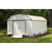 Lexington 10 ft. x 14 ft. Steel Storage Shed (10 x 14 ft.3,0 x 4,0 m) In Taupe / Eggshell