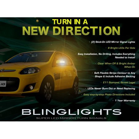 Fiat Palio LED Side Mirror Turn Signal Lights Lamps