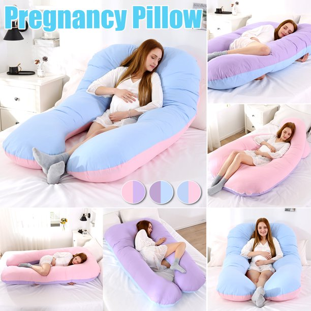 Large U Shape Total Body Pillow Pregnancy Maternity Comfort Support Cushion Sleep Nursing Maternity Sleep Bed Pillow 48 X 26 X 6 Inch Walmart Com Walmart Com