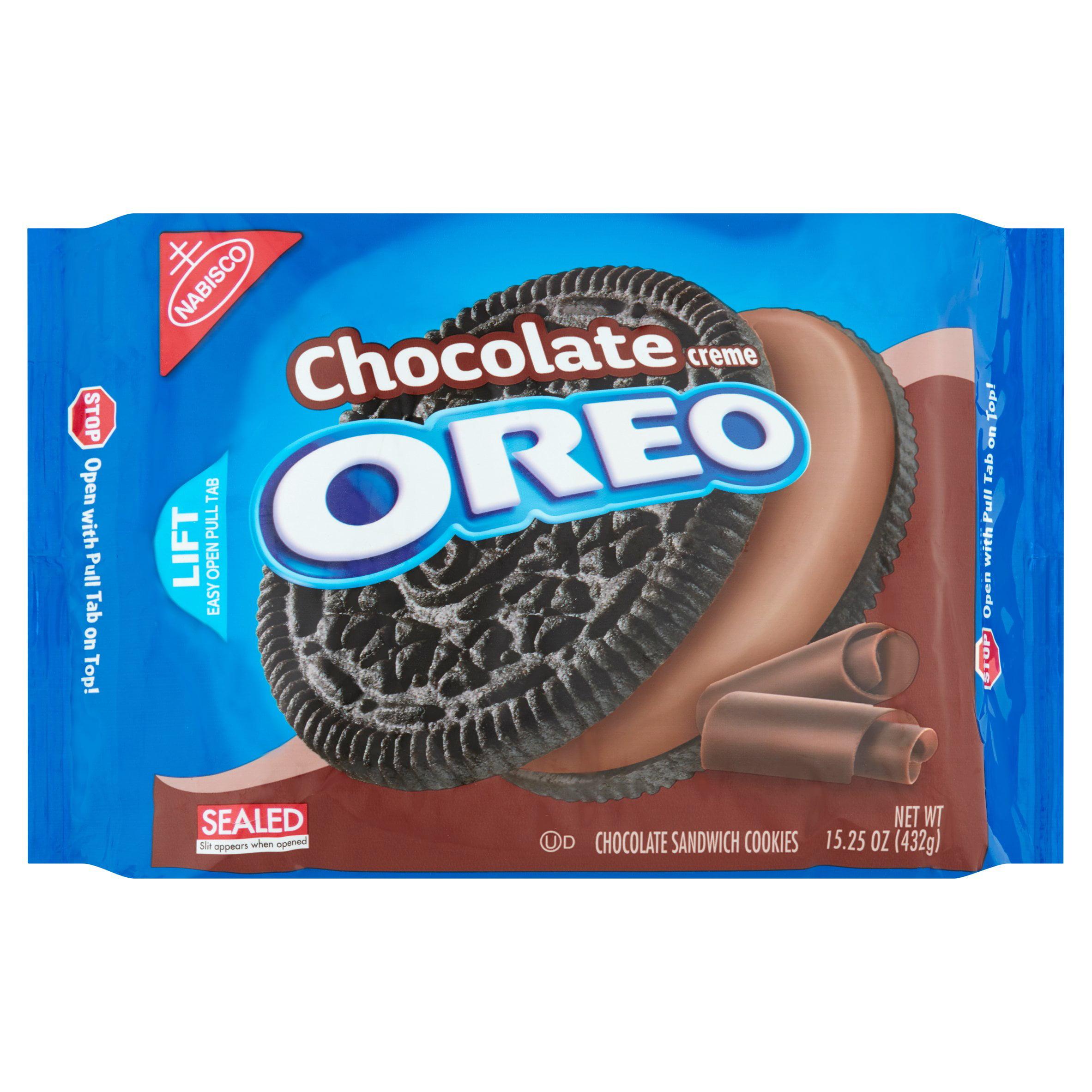 Nabisco Oreo Chocolate Sandwich Cookies Chocolate Creme, 15.25 OZ