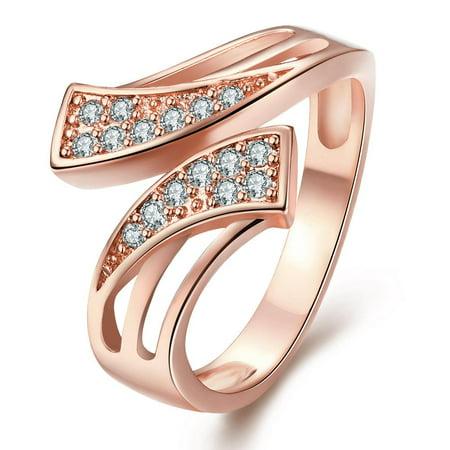 Aventura Jewellery Gold Plated Double Swirl Matrix Ring Size 9