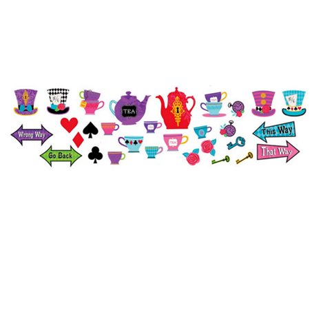 Mad Tea Party Paper Cutouts - Mad Science Party Supplies