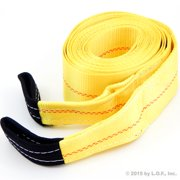 "Heavy Duty Recovery Tow Strap 4"" X 30' Foot' 20,000 LB Pound Break Strength"
