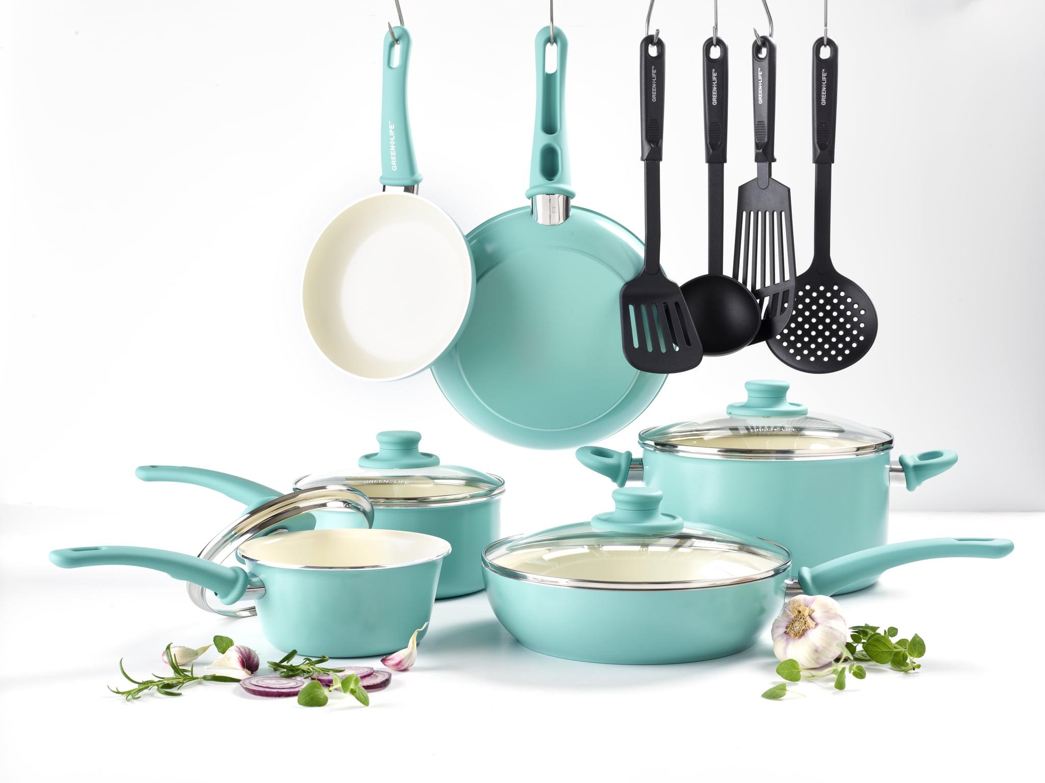 GreenLife Ceramic Non-Stick 14 Piece Cookware Set - Walmart.com