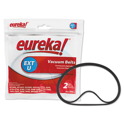 Replacement Belt for Eureka AirSpeed and Sanitaire Upright Vacuums, 2/Pack, Sold as 1 Package, 2 Each per Package