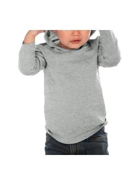 Kavio IJC0457 Infants Long Sleeve Pullover Hoodie-Heather Gray-18M