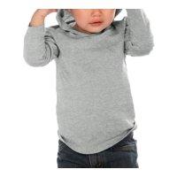 Kavio IJC0457 Infants Long Sleeve Pullover Hoodie-Heather Gray-18M