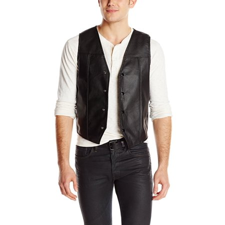 The Walking Dead Black Faux Leather Wing Vest (Authentic Black Leather Vest)