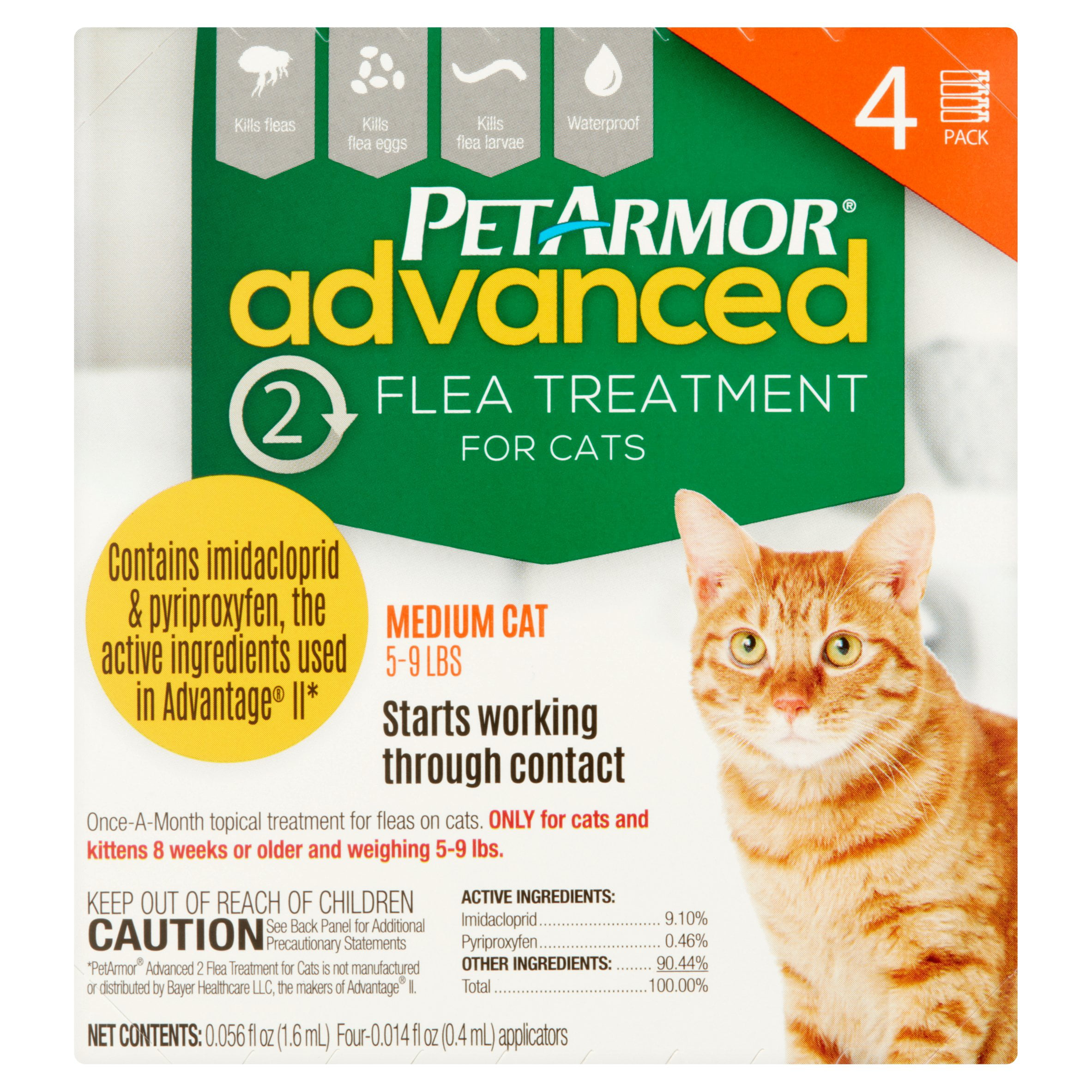 PetArmor Advanced 2 Flea Treatment for Medium Cats 5 9 lbs 0 0014
