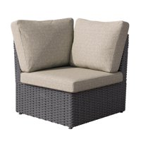 Distressed Charcoal Grey Weather Resistant Corner Patio Chair