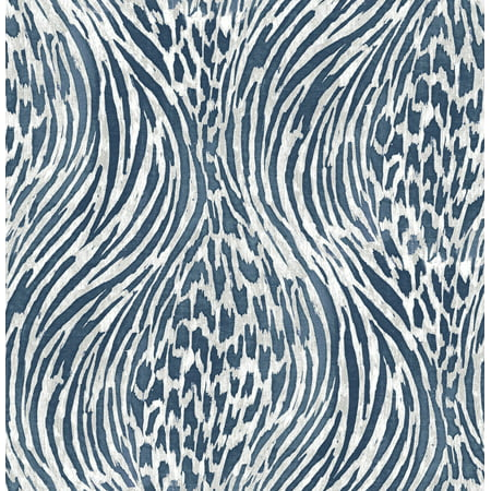 A−Street Prints by Brewster 2763-24205 Moonlight Splendid Blue Animal Print Wallpaper