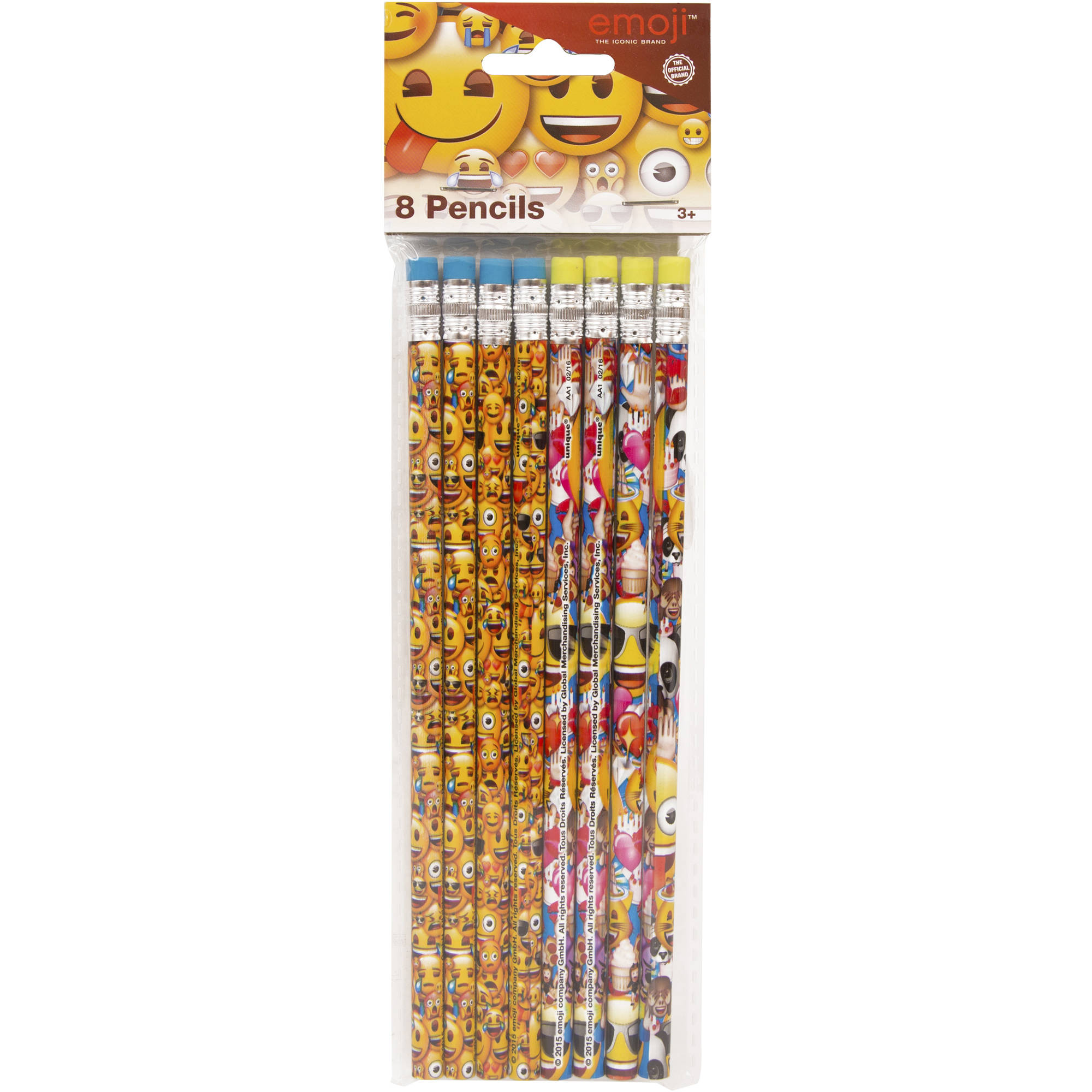Emoji Pencils, 8-Count