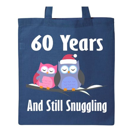 60th Anniversary Snuggling Owls Tote Bag - Owl Tote