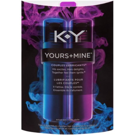 K-Y Yours & Mine Couples Lubricants, 3 oz (Pack of