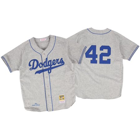Jackie Robinson Brooklyn Dodgers Mitchell   Ness Authentic 1955 Road ... cfa372171e7