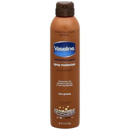 2 Pack - Vaseline Spray & Go Moisturizer, Cocoa Radiant, 6.5 oz