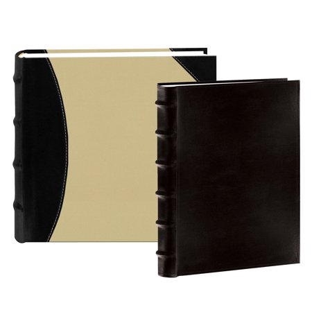 Pioneer Black Leather Bookbound Bi Directional Photo Album With