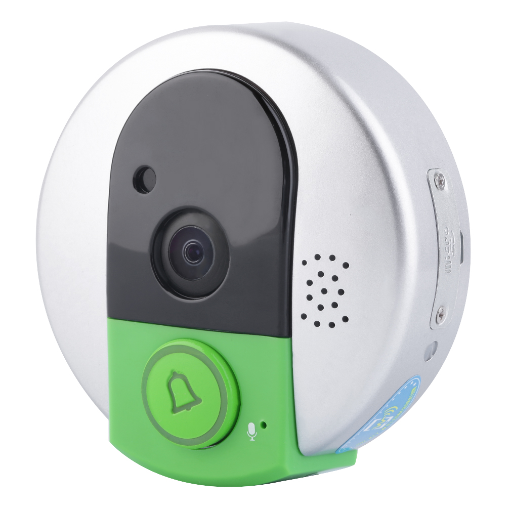 Phone Control Smart WiFi DoorBell Wireless Night Vision Video Door Chime and Push Button, Can Save Videos and Pictures