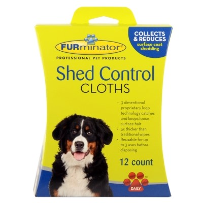 Furminator Dog Shed Control Cloths, 12 Count