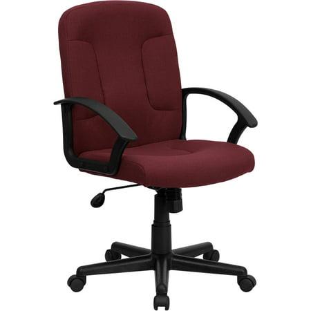 Astonishing Burgundy Fabric Office Chair Machost Co Dining Chair Design Ideas Machostcouk