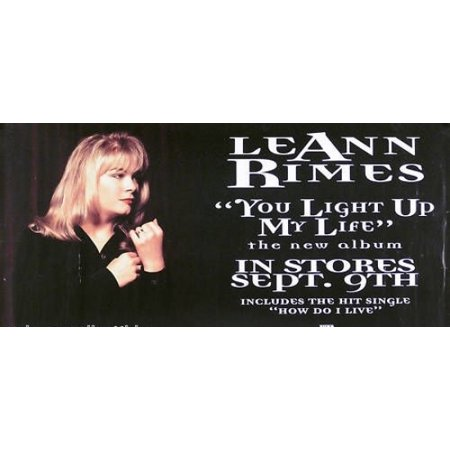 Leann Rimes You Light Up My Life Poster