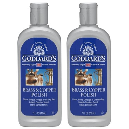 Brass And Copper Polish Cleaner Cleans & Removes Tarnish Goddards 7 oz Pack Of