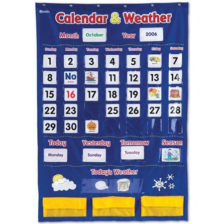 Olympia Sports 16266 Calendar & Weather Pocket Chart for $<!---->