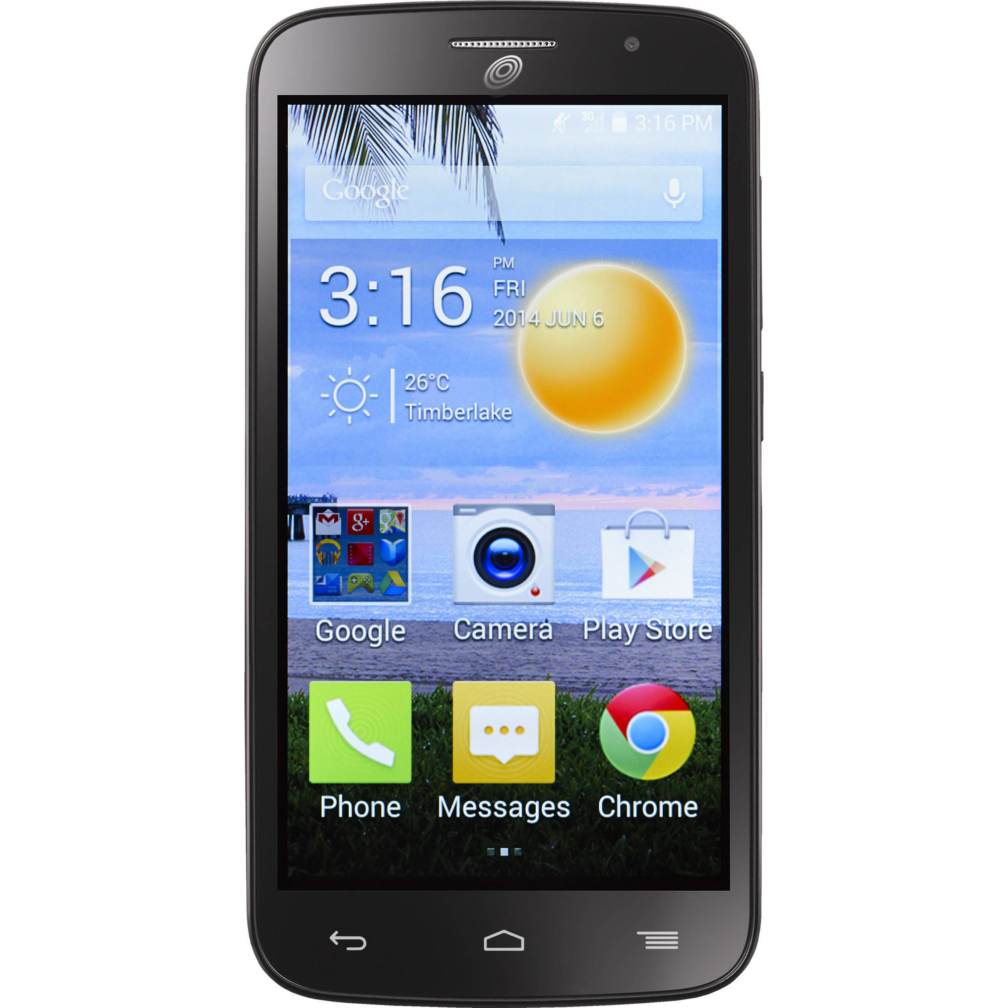 Refurbished Straight Talk Alcatel Prepaid onetouch Icon Pop A564C Smartphone with Bonus $45 Plan