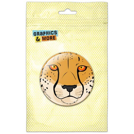 Cheetah Face Safari Refrigerator Button -