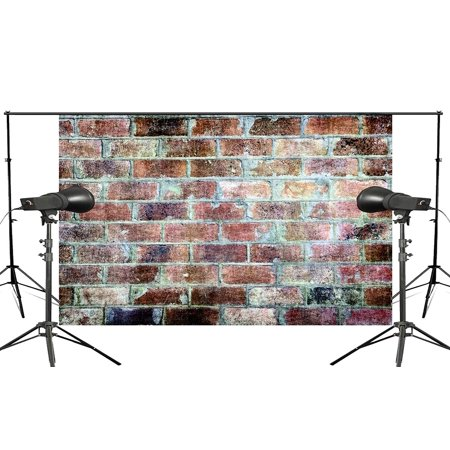 70s Backdrop (ABPHOTO Polyester 5x7ft Retro Nostalgia mixed color Brick Wall Photography background Abstract Art Backdrop Photo Video Studio Background)