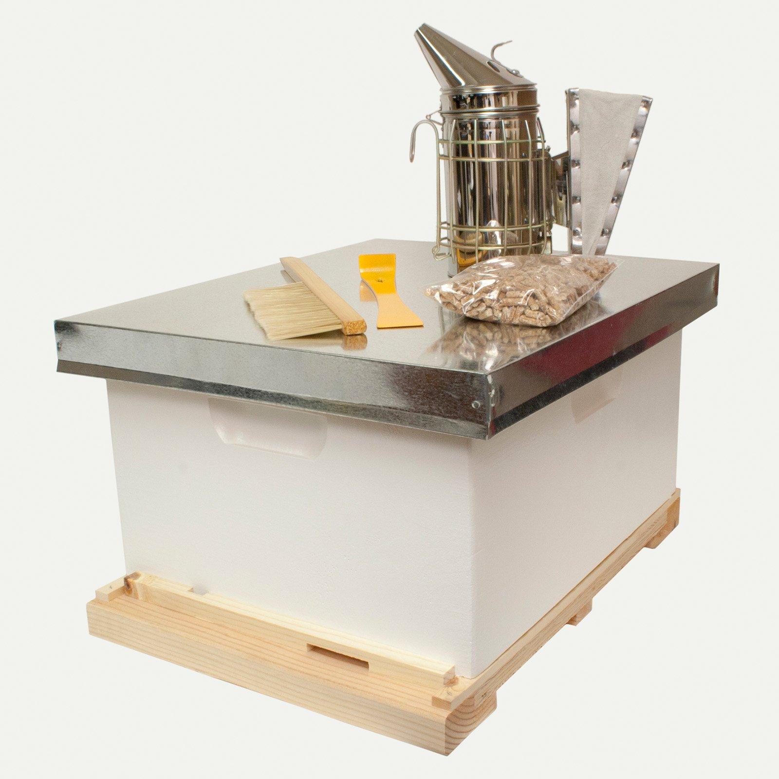 Harvest Lane Honey Beginner Backyard Beekeeping Kit with Tools