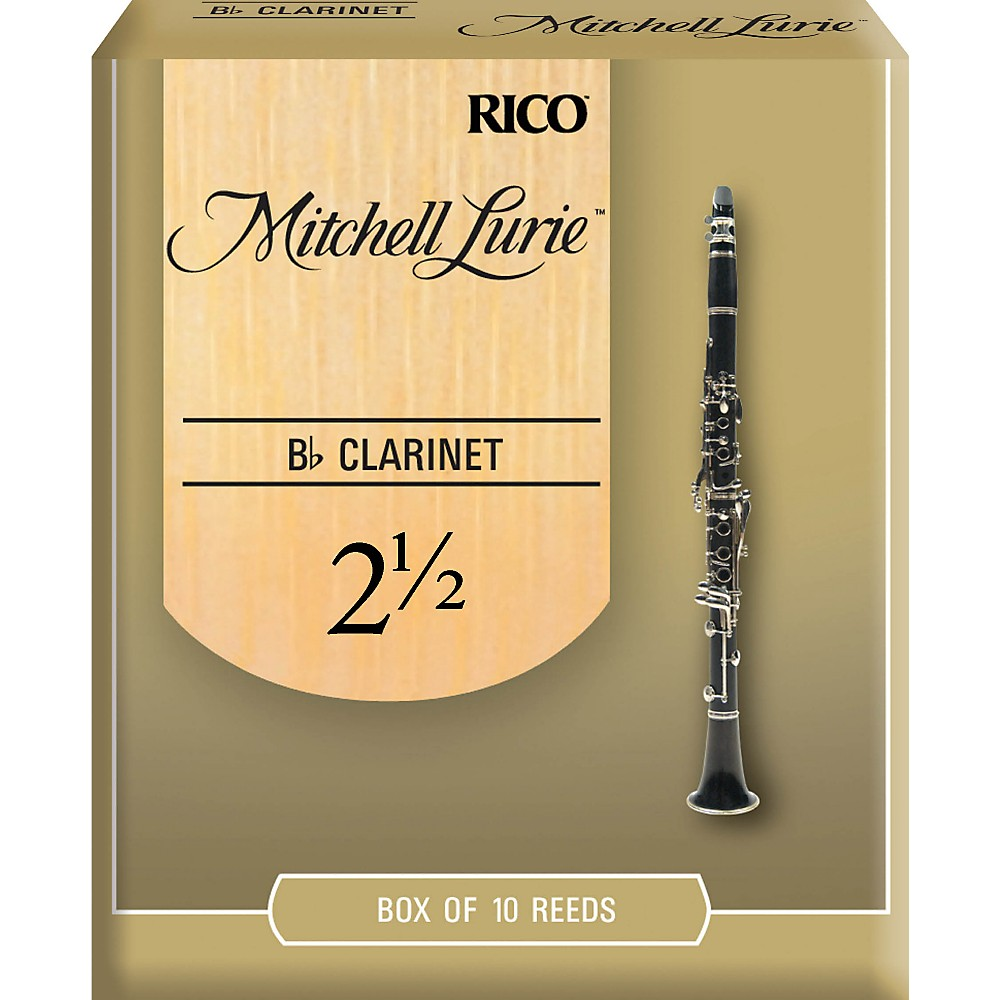 Mitchell Lurie Bb Clarinet Reeds Strength 2.5 Box of 10