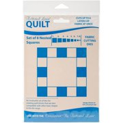 Tattered Lace Quilt Die Cut-Squares Set Of 8