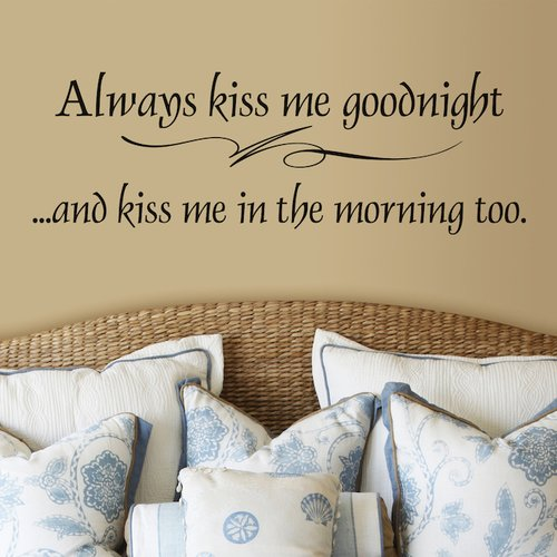 Fireside Home And Kiss Me In the Morning Too Wall Decal