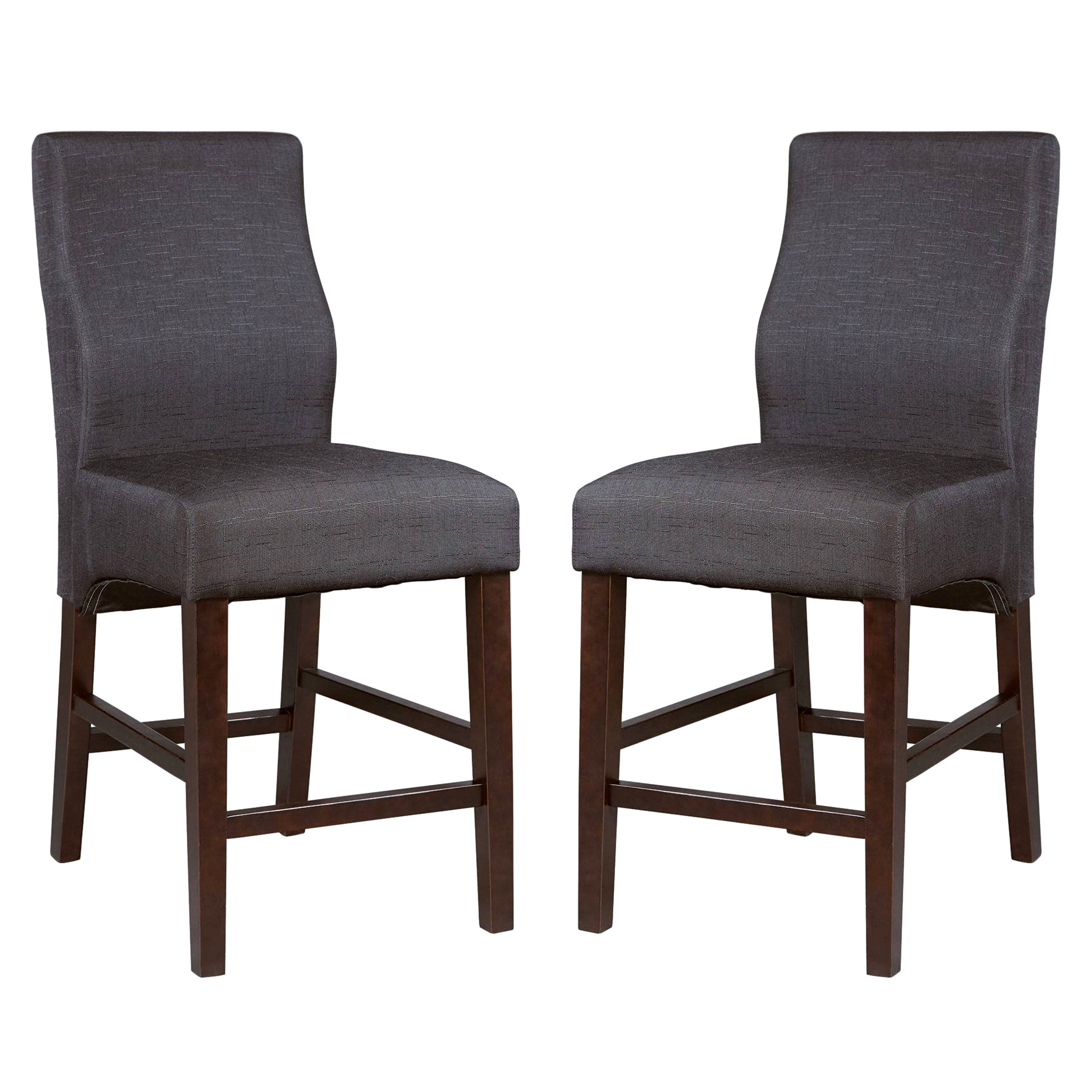 A Line Furniture Luxenberg Casual Black Parson Counter Height Stools (Set of 2)
