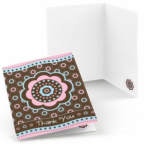Trendy Flower Thank You Cards (8 count)