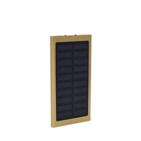 New 100000mAh Dual USB Portable Solar Battery Charger Solar Power Bank For Phone, Gold