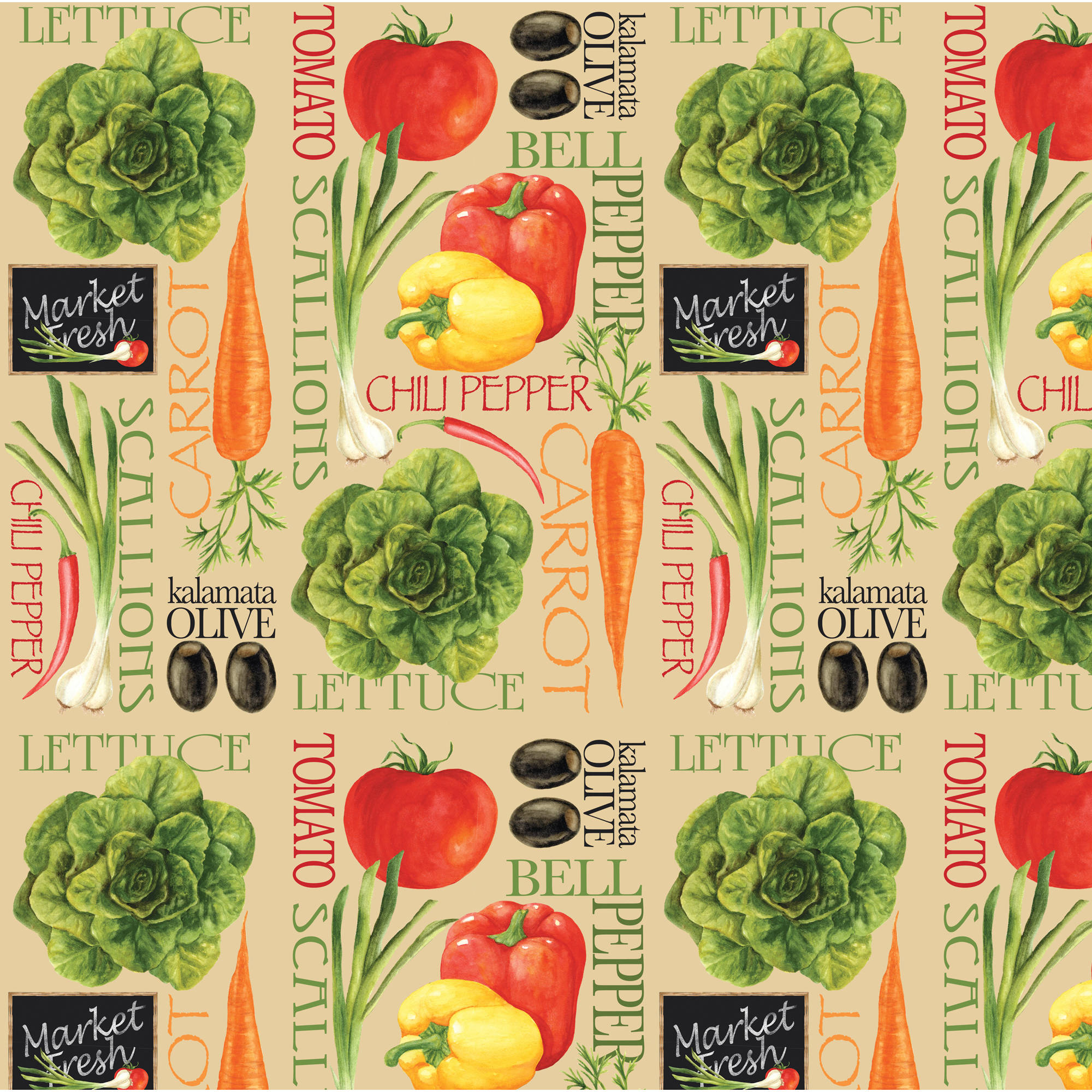 """Fresh Produce Quilting Cotton Fabric By The Yard, 44"""" by David Textiles, Inc."""