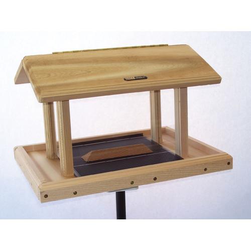 Birds Choice 11 Quart 4-Sided Hopper Natural Cedar Bird Feeder