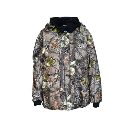 Big Mens Burly Camo Waterproof Breathable Insulated Hooded Parka 3X -