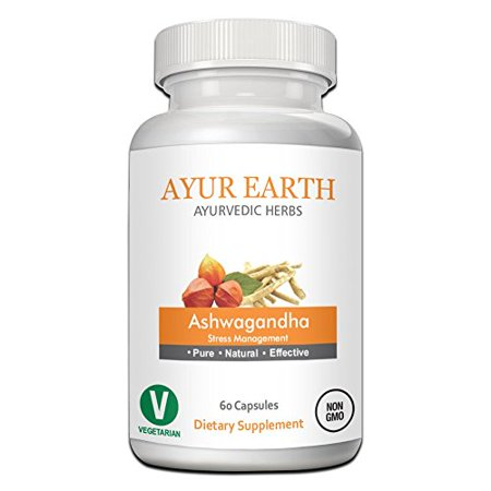 Pure Ashwagandha Root Extract Capsules: Ayurvedic Herb for Stress Management, Anxiety Relief, Cortisol Support and Improved Adrenal Health to Fight Fatigue, Withania somnifera, 60 Veggie (Best Antidepressant For Fatigue And Anxiety)