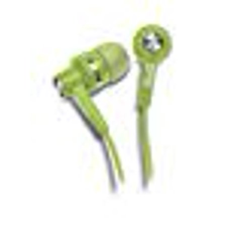 Klip Xtreme KoolBuds Stereo Earphones- In-Ear with High Fidelity Sound and 15mm Speaker Drivers for Crisp Clear Sound- 3.5mm Connector- Green