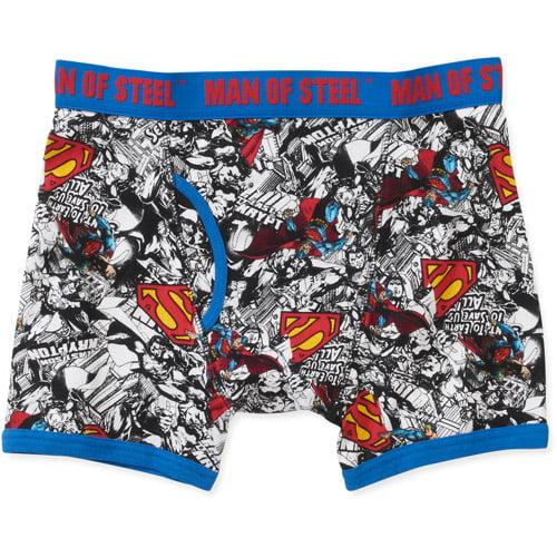 Superman Men's License Knit Boxer Briefs