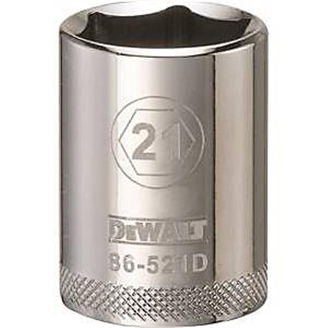 Stanley Tools 7519689 DWMT86521OSP 0.5 Drive 6 Point Socket, 21 mm
