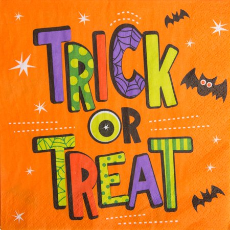Trick or Treat Halloween Party Lunch Napkins, 18ct