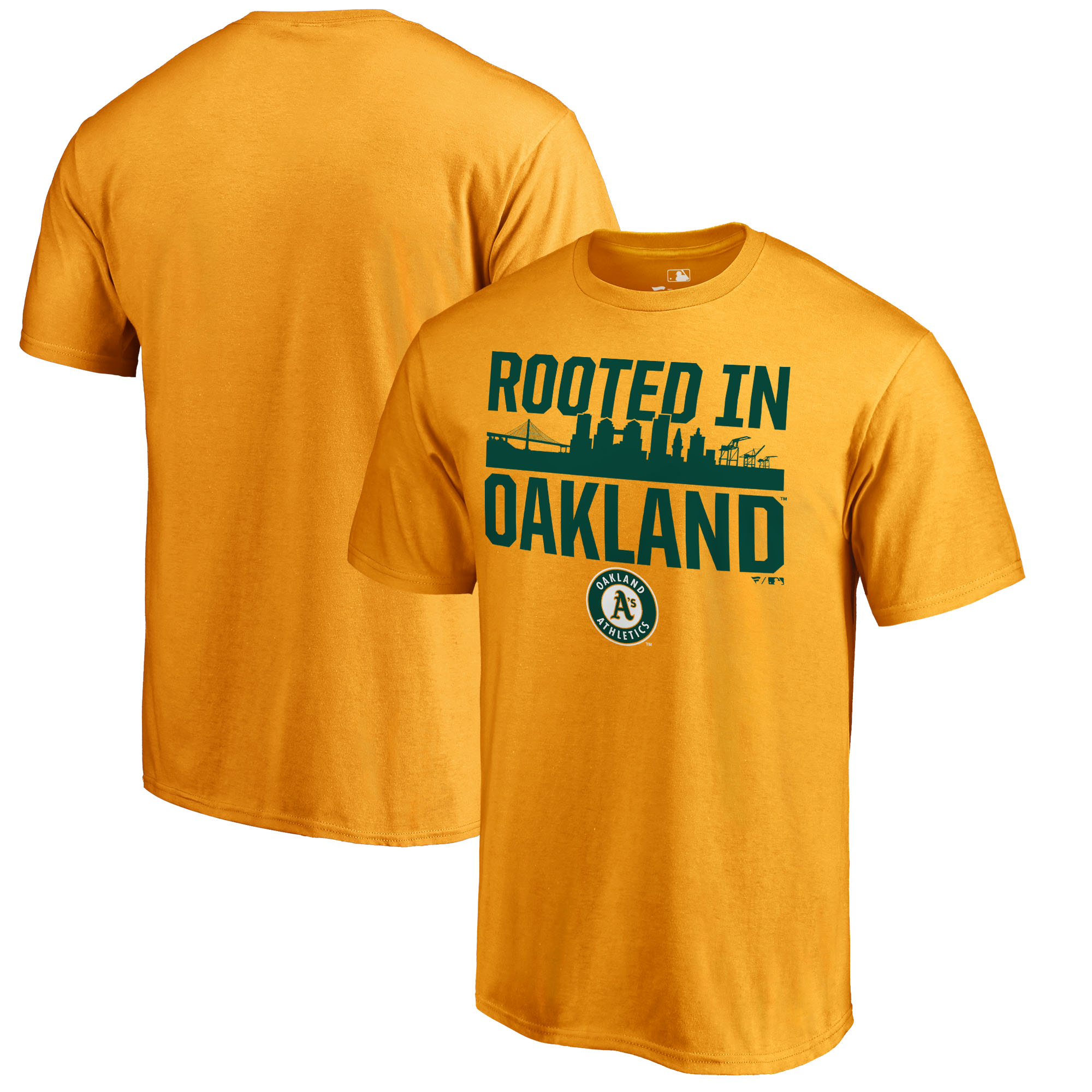 Oakland Athletics Fanatics Branded Hometown Collection Oakland Roots T-Shirt - Gold